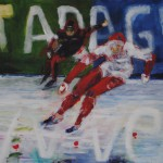 series speed skating - duel, 2011, acrylic on canvas, 80x100