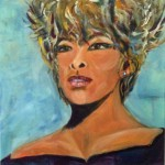 series Celebrities -  Tina Turner, 2014, acrylic on canvas, 40x40