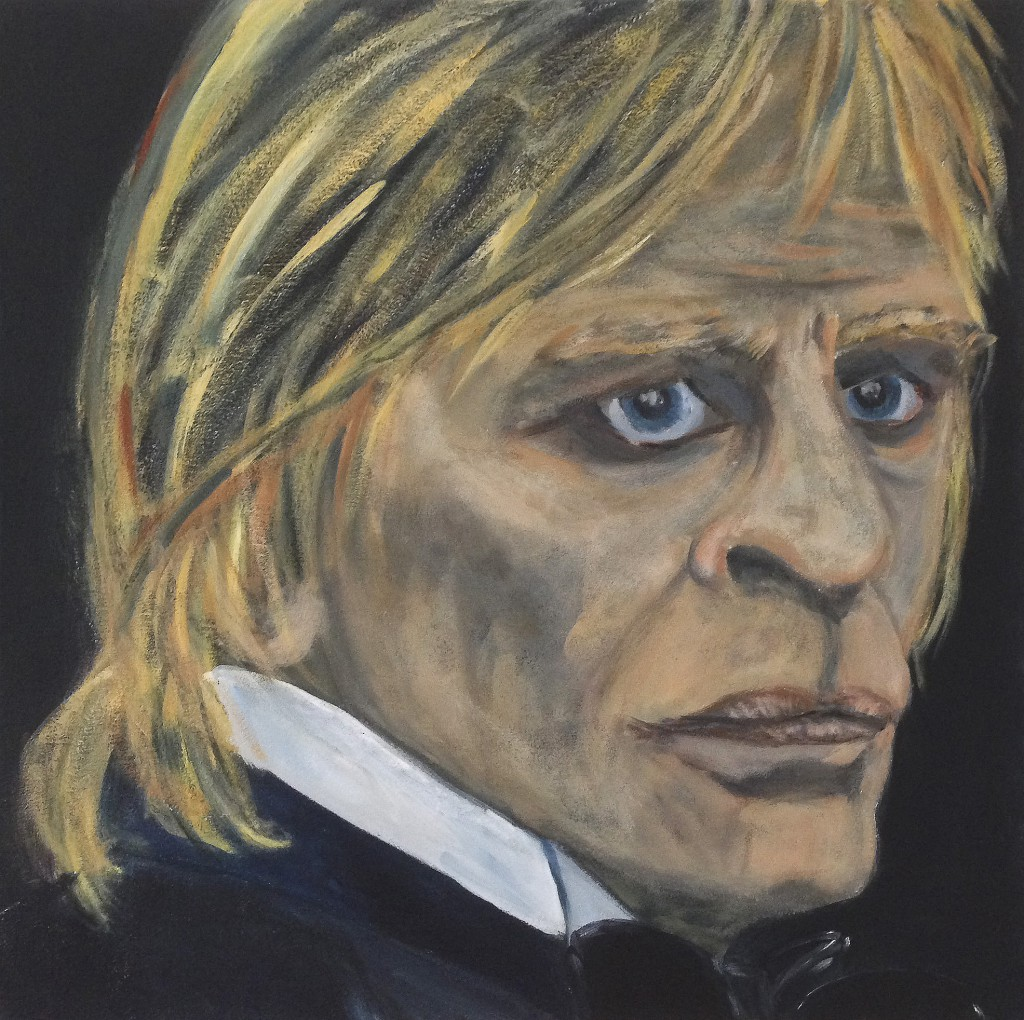 Klaus Kinski -  Galadinner, 2014, acrylic on canvas, 60x60