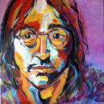 series Celebrities -  John Lennon, 2014, acrylic on canvas, 40x40