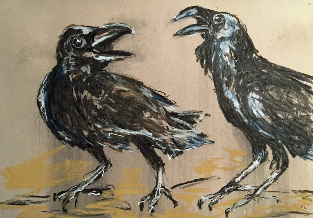 Artelier13-sketches-crows-Erfurt-Kuechler-Dagmar-2014-12-22-001