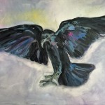 raven IV, oil on canvas, 50x70